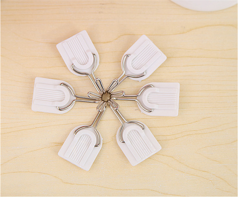 New White Family Wall Hanger Hats Bag Key Adhesive Plastic Hook MAX 1.5Kg