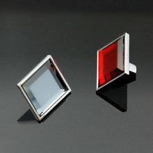 31mm square crystal kitchen cabinet knob red gray crystal wine cabinet knobs silver chrome dresser cupboard
