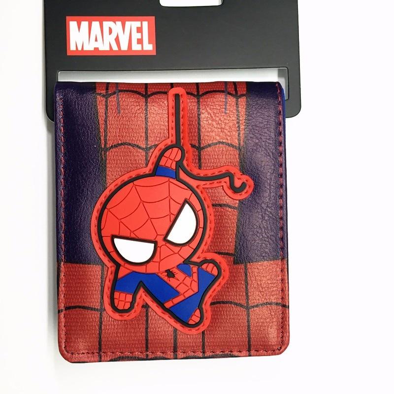 Cute Dealpool Hulk Ironman Spiderman Superman Batman Pikachu Cartoon Wallet Cute 3D Purse Credit Card Holder Man Wallet