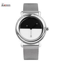 2017 Girls gif ladies type watch Enmex development design cutting-edge style black and white Luminous quartz gorgeous wristwatch
