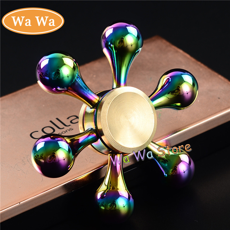 Funny Toy Fidget Spinner Metal Alloy EDC Hand Spinner for Autism and ADHD Birthday Gift Colorful