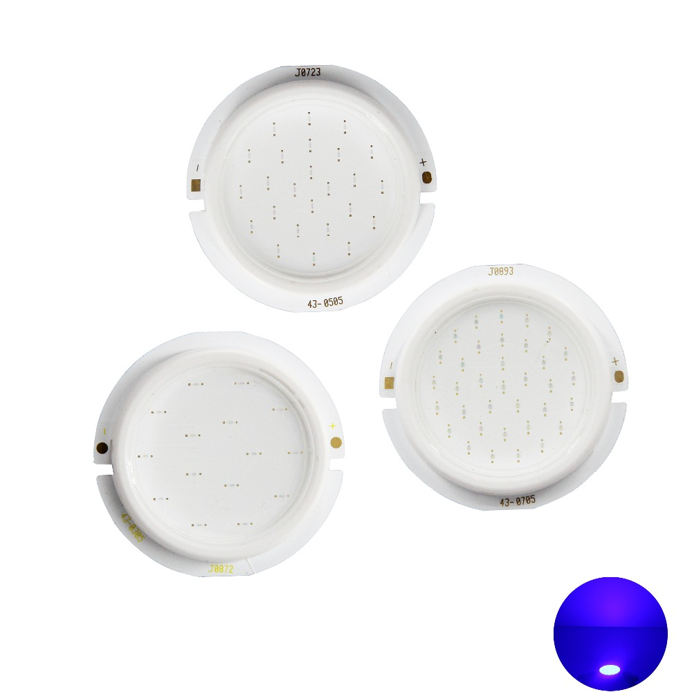allcob 43mm thicken round <font><b>LED</b></font> COB Light Source for spotlight bulb lamp Module genesis chip 3W 5W 7W blue 450nm <font><b>460nm</b></font> COB <font><b>LED</b></font> image