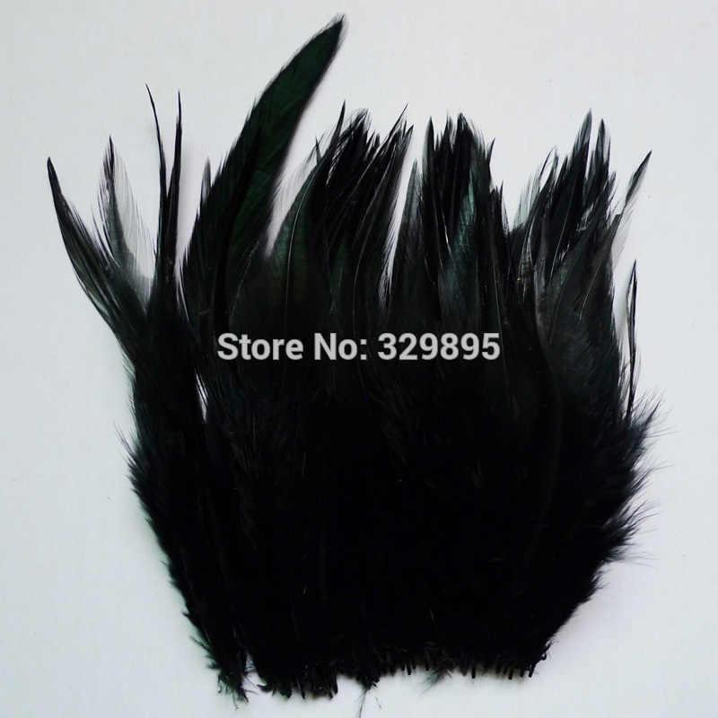 100 cái Màu Đen 10-15 cm/4-6 inch Pheasant Cổ Chùm Lông Gà Gà Cho Hàng Thủ Công Đám Cưới dreamcatcher Trang Trí gà trống plumas