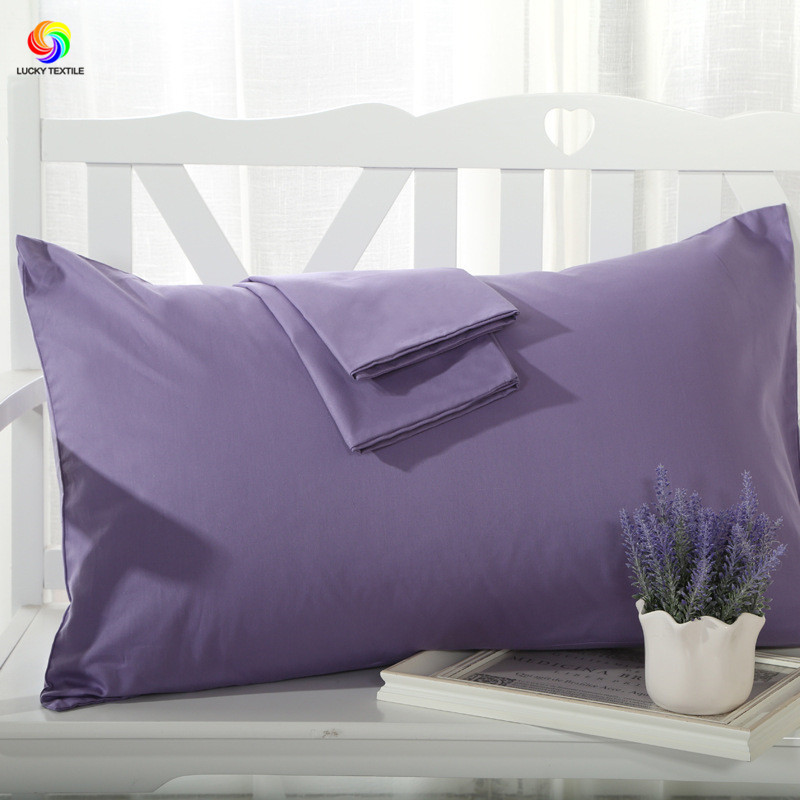2pcs/set pillowcase 48*74cm purple single pillow cover white gray solid brief sleep pilow case for home hotel bedding coffee