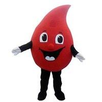 Red Drop of blood mascot costume Fancy cosplay Dress Halloween fantasia mascot costume for Public welfare activities&Valentine's