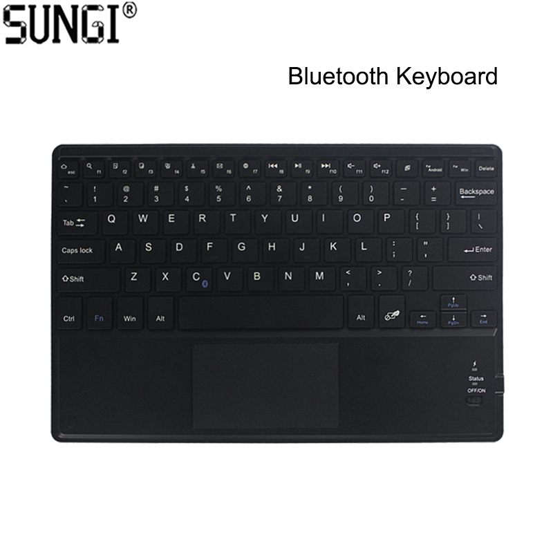Mini Keyboard Wireless Bluetooth Keyboard 3.0 Ultra Thin Multi-touch BT With Touchpad Keyboard For Tablet PC Laptop ipad rapoo e2700 slim wireless multi media touchpad 80 key keyboard with receiver black 2xaaa