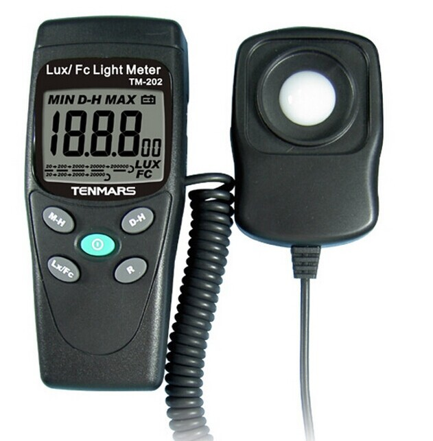 TM-202  Digital Light Meter lux meter 20-200000lux brand new professional digital lux meter digital light meter lx1010b 100000 lux original retail package free shipping