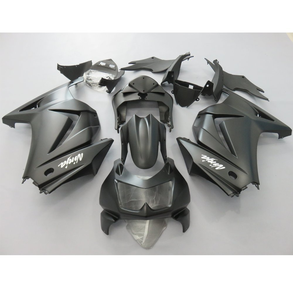 Injection Molding Fairing Kit For Kawasaki Ninja 250R EX250 2008 Ninja250r ZX250R 08 Full Fairings Kit Bodywork Black UV Painted