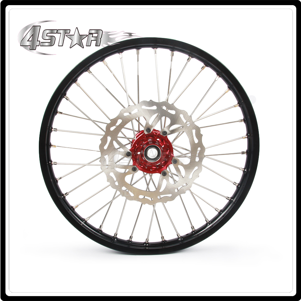 Motorcycle 2017 Front Wheel Rim Hubs 1.6*21 1.85*19 For Honda CRF250R CRF 250R CRF450R CRF 450R 2015-2017 2015 2016 2017 for honda crf 250r 450r 2004 2006 crf 250x 450x 2004 2015 red motorcycle dirt bike off road cnc pivot brake clutch lever