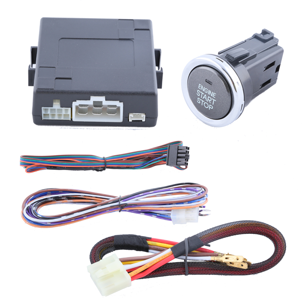 universal car engine start push button kit with remote engine start stop dc12v and support with. Black Bedroom Furniture Sets. Home Design Ideas