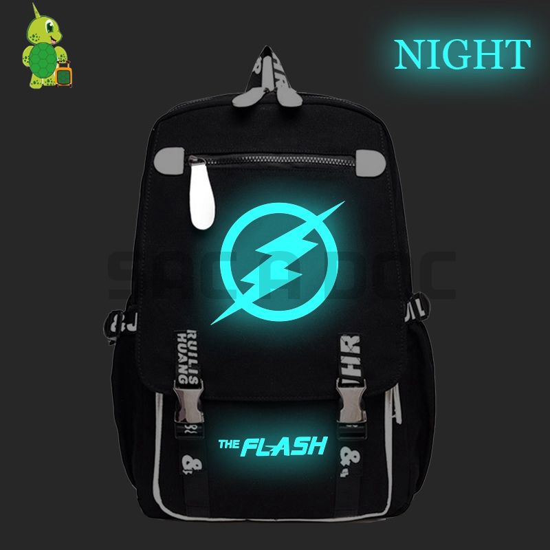The Flash Luminous Backpack Super Hero School Bags for Teenage Girls Boys Daily Backpack Large Capacity Laptop Travel BagsThe Flash Luminous Backpack Super Hero School Bags for Teenage Girls Boys Daily Backpack Large Capacity Laptop Travel Bags