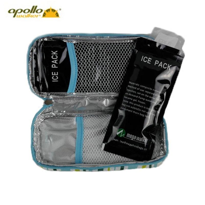 Купить с кэшбэком Apollo Insulin Cooler Bag Portable Insulated Diabetic Insulin Travel Case Cooler Box Bolsa Termica 600D Aluminum Foil ice bag