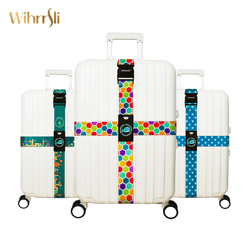 Travel accessories Luggage cover band Customs lock Cord strap With baggage tag suitcase Packing belt Case cover Bundling boxTravel accessories Luggage cover band Customs lock Cord strap With baggage tag suitcase Packing belt Case cover Bundling box