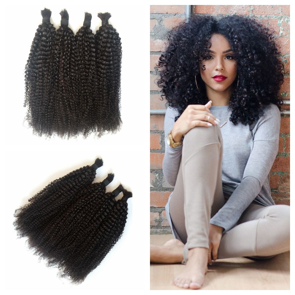 4a4b4c Afro Kinky Curly Braiding Hair No Weft No