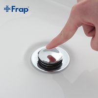 Frap Nowoczesny styl Łazienka basin Vessel Sink Spustowy odpadów Pop-Up Odpadów Vanity Z przelewem hole F66-2 F66