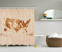 early american retro map of the country southwest and alaska image polyester fabric bathroom shower curtain set with hooks