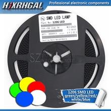 1 carretel 3000 pces 1206 smd led diodos luz amarelo vermelho verde azul branco novo e original hjxrhgal