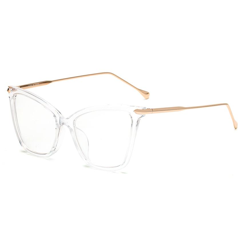 Peekaboo 8 modelos transparentes claras vidros do olho de gato retro sexy  vintage da moda armações de óculos para as mulheres com caixa em Armações  de ... f1f6456fc5