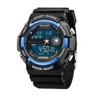 SANDA Fashion Sport Watch Men Top Brand Luxury Famous Electronic LED Digital Wrist Watch Male Clock