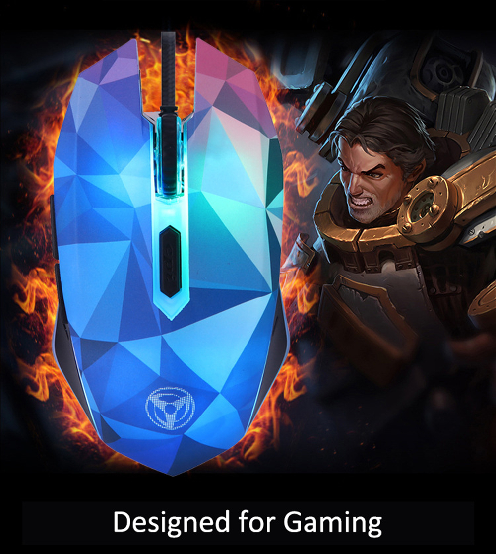 Original Hongsund Dazzle Colour Diamond Edition Gaming Mouse Wired Mouse Gamer Optical Computer Mouse For Pro Gamer 15