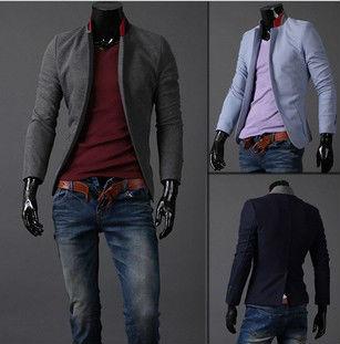 2013 Fashion Brand Slim Suit Men.Stand Collar,Back Collar