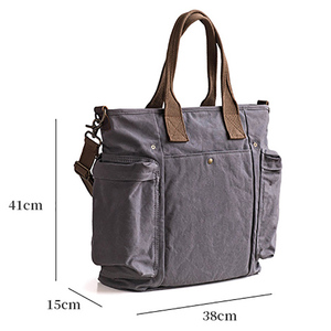 Image 5 - AETOO Separated design sub mother canvas bag A packet of dual use male oblique carry large capacity special bag
