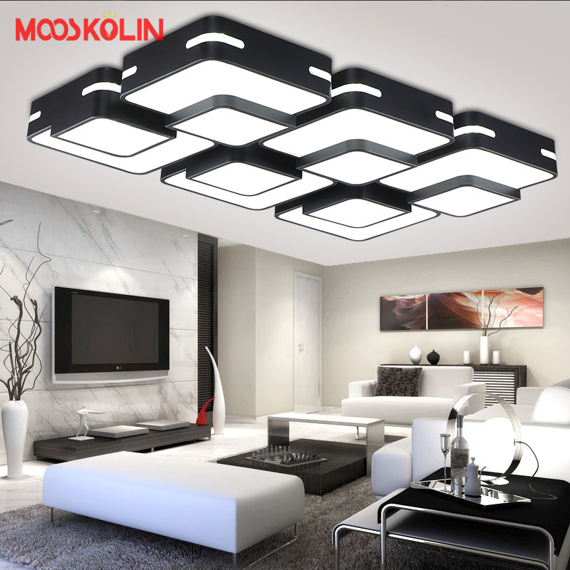 Modern Led Ceiling lights with Remote control for Living room Bedroom luminarias para sala dimming indoor home decoration abajur  square modern led ceiling light for living room bedroom fixture indoor lighting plafonnier led ceiling lamp luminarias para sala
