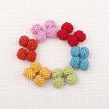 цены на Plain Color Knot Buckle Cufflinks Chinese Knot Cuff Buttons Single Color men's Shirt cuff links DIY Mens Braided Thread Buckle  в интернет-магазинах