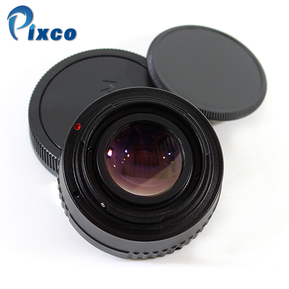 Pixco For EF-EOS M Focal Reducer Speed Booster Turbo Adapter Suit For M42 Lens to Canon EOS M M6 M5 M10 M3 M2 M