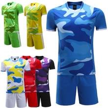 2016 mens football jerseys training suit sports tracksuit camouflage soccer jerseys sets running suits design jogging custom