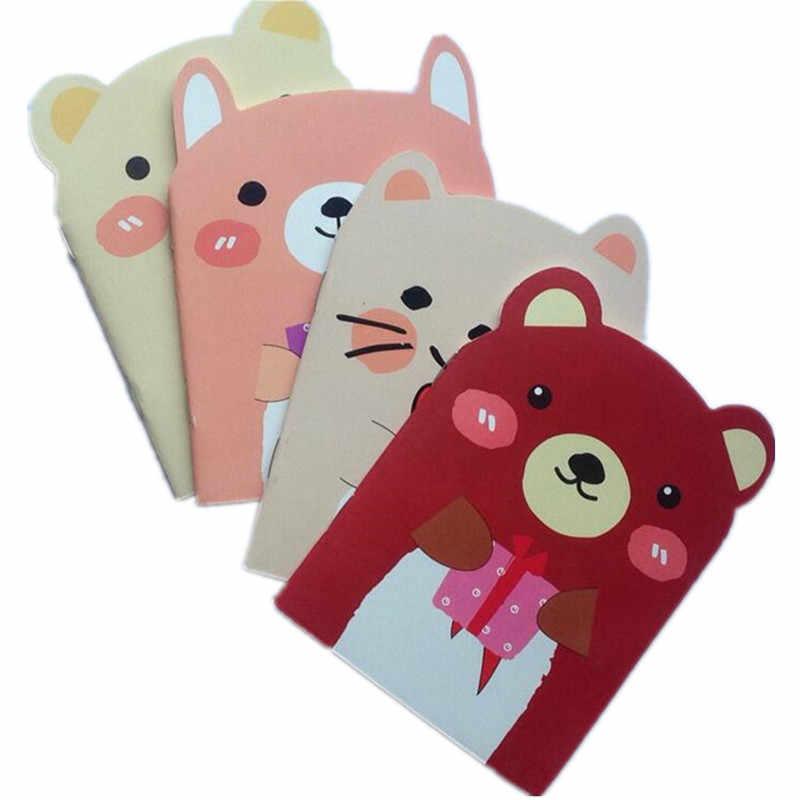 1 pçs/lote Lovely Bear & Cat Projeto A6 Notebook Diy Mini Diário de Viagem livro Diário Notebook Papelaria Estudante Suprimentos