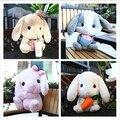 Bigger Than You Think AMUSECuddly Bunny Fluffy Rabbit  Plush  Stuffed  Animal Pop Usa Lobby 45cm Sitting Height Gift For Kids