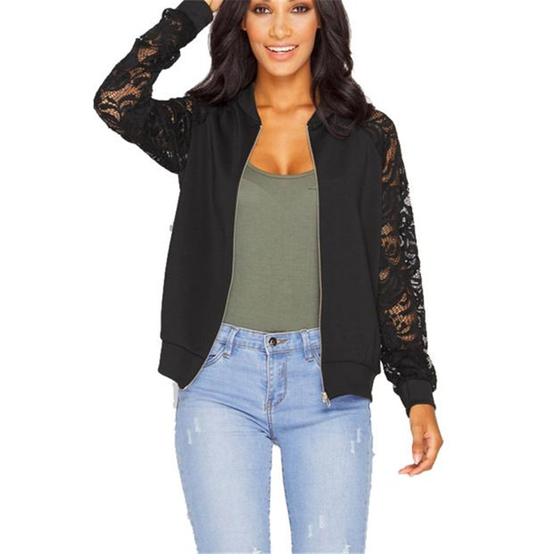 Basic Jackets Sinfeel Fashion Women Jacket Brand Tops Flower Print Girl Casual Baseball Outwear Zipper Thin Bomber Long Sleeves Coat Jackets Keep You Fit All The Time Women's Clothing