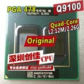 Laptop cpu processor Intel original Q9100 2.26GHz/12MB/1066MHz PGA478 scrattered pieces For GM45 PM45 qx9300 q9000 q9200