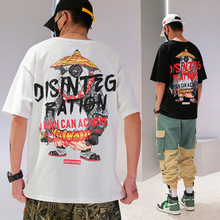 HFNF Harajuku hip hop mens/womens T-shirt printing round neck casual males/females cotton short-sleeved trend