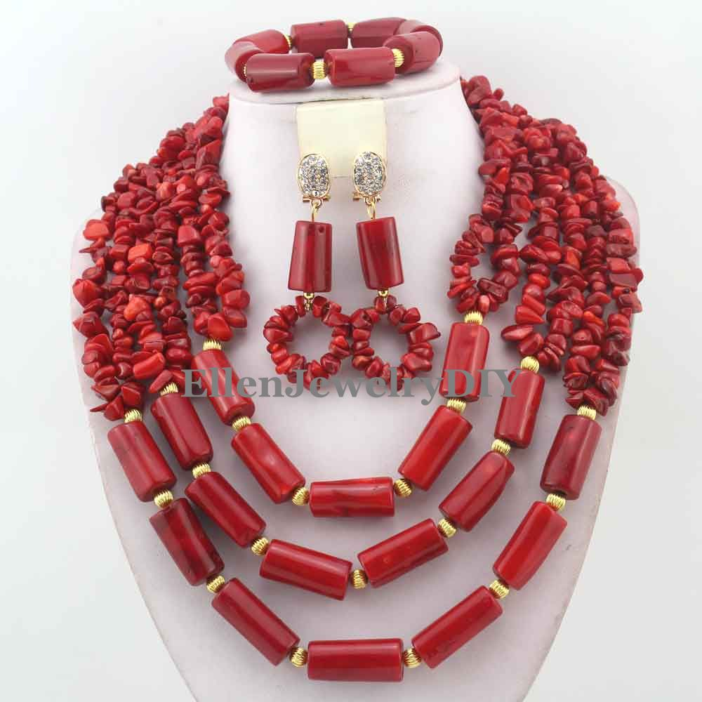 Free Shipping! 2016 Unique African Red Coral Beads Jewelry Set Nigerian Wedding Beads Jewelry Set Bridal Coral Jewelry W13363Free Shipping! 2016 Unique African Red Coral Beads Jewelry Set Nigerian Wedding Beads Jewelry Set Bridal Coral Jewelry W13363