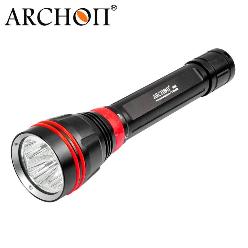 Nouveau ARCHON DY02 4000 lumens 6500 k CREE XP-L LED Plongée lampe de Poche Lampe Torche par 26650 Batterie