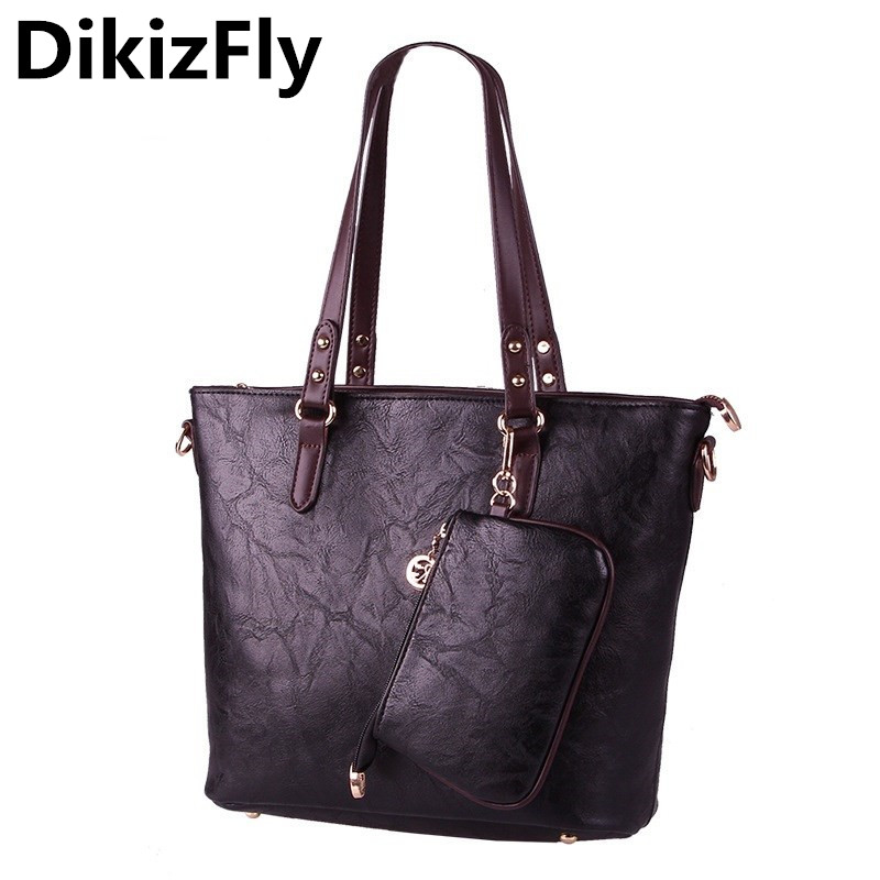 DikizFly New Brand luxury handbags women bags designer Casual Tote bag women shoulder bag for 2017 bolsos mujer sac a main purse bolsos mujer 2016 pu women tote bag luxury brand bags handbags woman new leather shoulder bag ladies crossbody bag neverfull sac