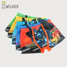 weLaken 5 Pcs/lot Cartoon Children Underpants Comfortable Breathable Underwear Kids Boxer for 3-11Yrs Boys Briefs