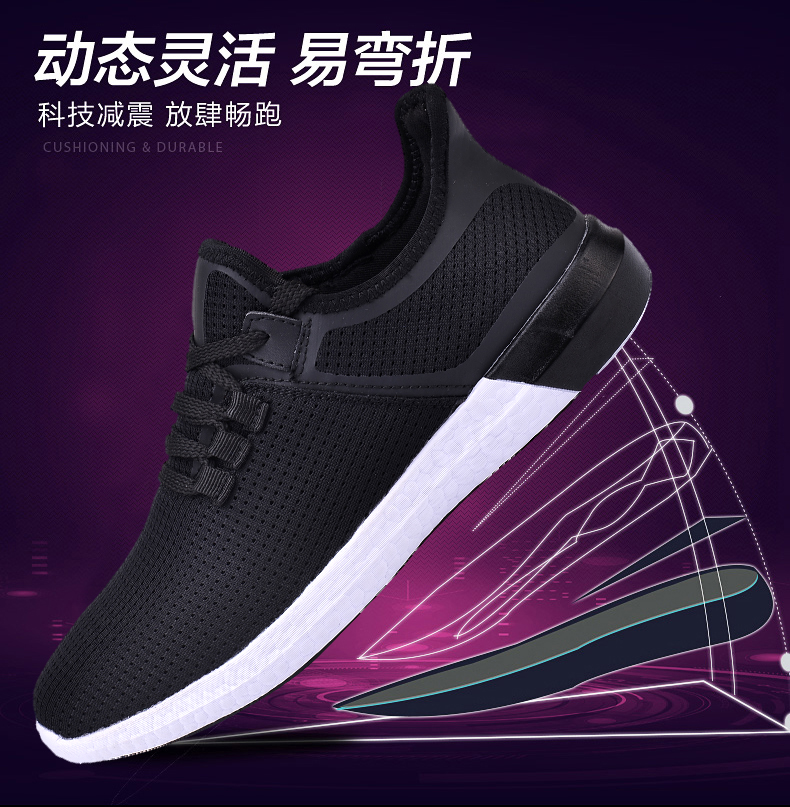 UNN Unisex Running Shoes Men New Style Breathable Mesh Sneakers Men Light Sport Outdoor Women Shoes Black Size EU 35-44 13