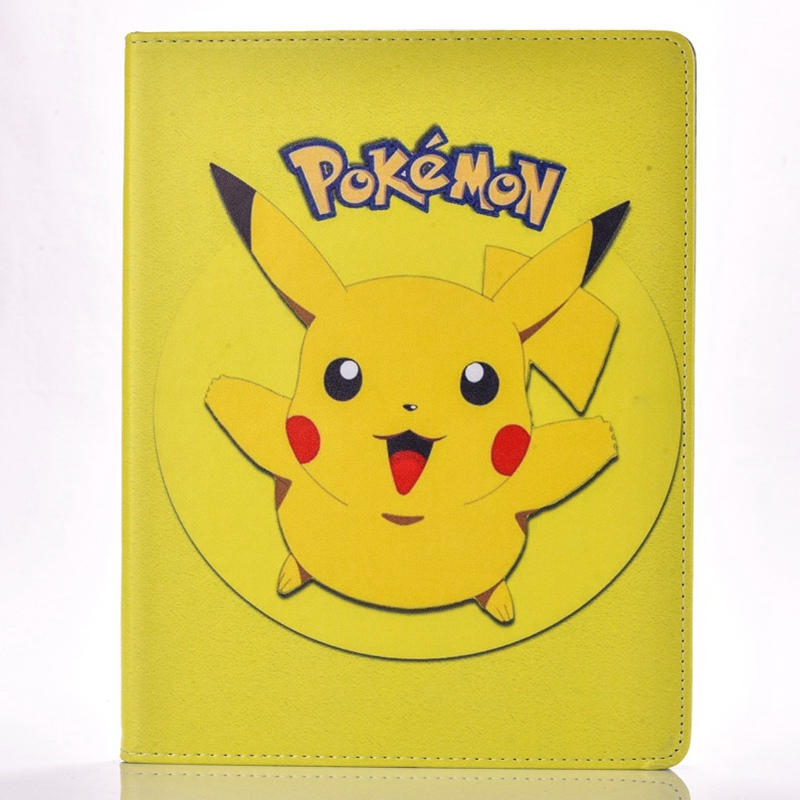 Case for Apple ipad 2 / 3 / 4 Pokemon Go cute Pikachu tablet PU leather Cover Flip stand shell coque para coque fundas for apple ipad air ii 2 pu leather stand luxury new cover case for ipad 6 a1566 a1567 9 7 inch cartton wallet shell