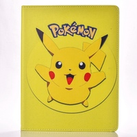 Case For Apple Ipad 2 3 4 Pokemon Go Cute Pikachu Tablet PU Leather Cover Flip