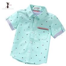Kung Fu Ant/брендовые оригинальные весенне-летние модные рубашки с принтом для мальчиков; повседневные рубашки для мальчиков; Camisa Masculina; блузки для детей; детская одежда