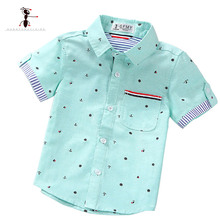 Купить с кэшбэком Kung Fu Ant Brand Original Spring Summer Fashion print Boy's Shirts Casual Camisa Masculina Blouses for Children Kids Clothes