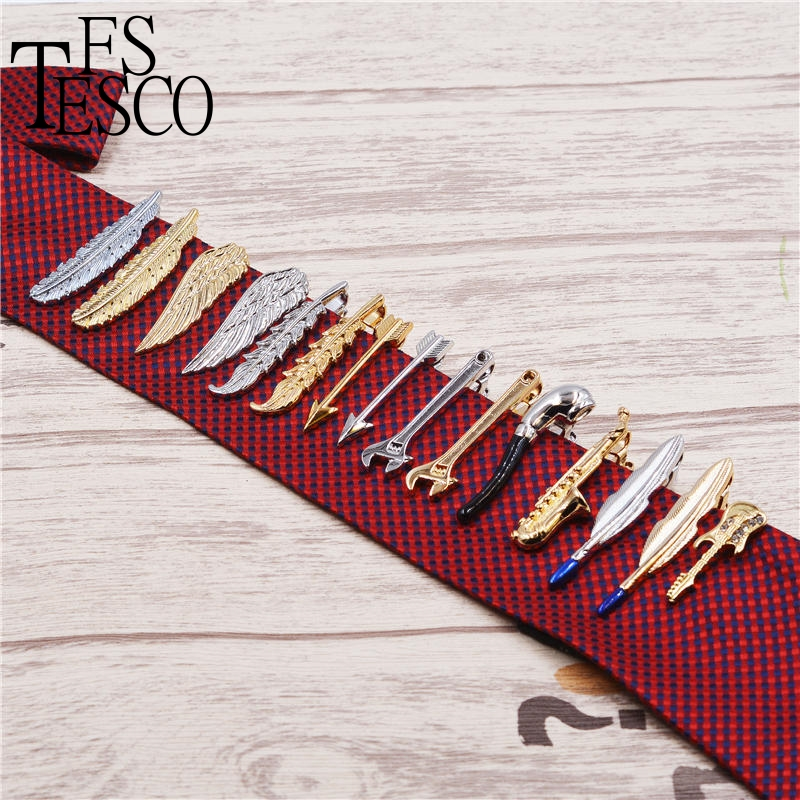 Creative men tie clip wing feather Hu high sword tie bars tie pin shape wrench fashion tiger shape 10cm width wacky tie for men