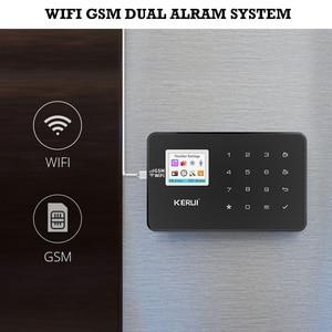 Image 2 - KERUI W18 GSM واي فاي نظام إنذار لص أمن الوطن APP التحكم عن بعد الحركة النار الدخان بوابة أمن كاشفة نافذة الاستشعار لتقوم بها بنفسك عدة