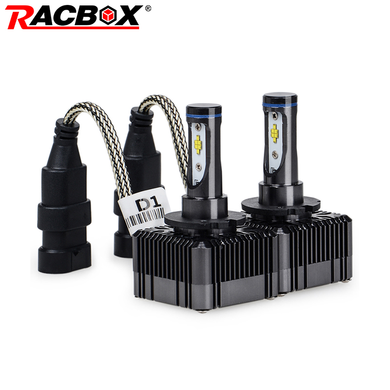 RACBOX D1S D1C D1R D3S D3C D3R Auto Car LED Headlight Bulb Lamp Globe Light 72W 8000LM 6000K White 12V 24V All-In-One Design