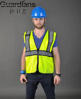100pc High-grade Safety Motorcycle Vest Fluorescent Yellow Zipper Pockets Reflective Vest, Working Clothes Vest-reflective ccgk safety clothing reflective high visibility tops tee quick drying short sleeve working clothes fluorescent yellow workwear