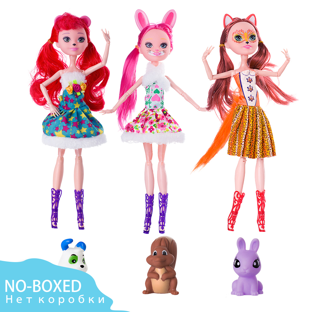 No-boxed 1pcs Joints Enchantimals Doll Toy For Girl Limited Collection Anime Model Poupee Doll For Girls Gifts 27cm