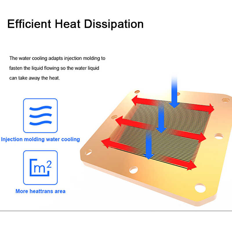 Chłodnica wodna Aigo CPU T120/240 obudowa PC chłodzenie wodne dla LGA 1151/AM3 +/AM4 120mm wentylator komputera CPU chłodnica chłodnica wody chłodzącej
